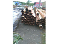 Reclaimed steel pipes