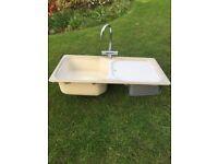 Composit FRANKE kitchen sink - single sink with drainer