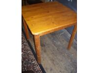 Small pine dining table for upcycling