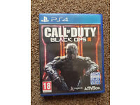 PS4 Call of Duty Black Ops 3 in mint condition like new