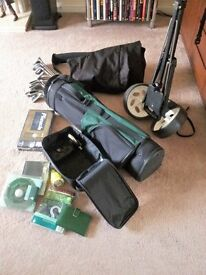 Golf Club Set (Used Once) & Extras.