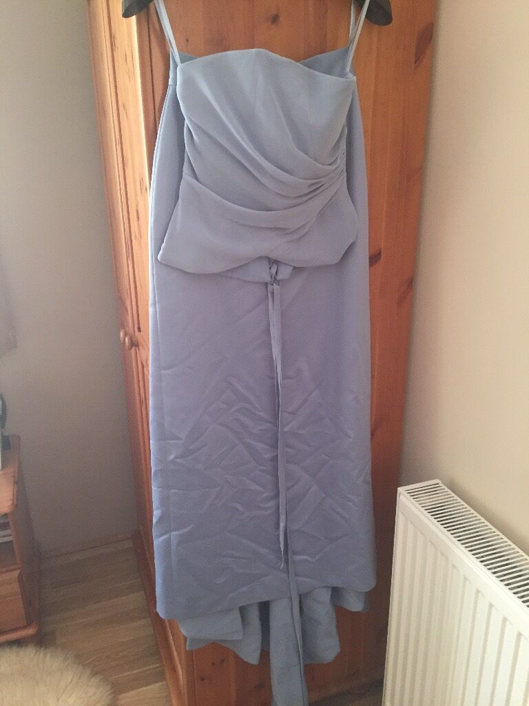 Wedding dress size 8 in light blue colourin Ashford, SurreyGumtree - Wedding dress UK size 8 in light blue colour washed but will need ironing as stored in a wardrobe.In very good condition £40