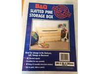 Brand New Pine Storage Box. Easy Assembly. Can be Painted Or Stained.