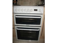 Cooker with double oven