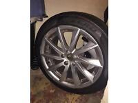 18 inch 66 reg Jaguar XF wheel and tyre