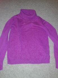 Purple polo neck jumper