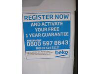 Brand New Beko undercounter freezer - 2 weeks old
