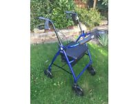 SAFE & STURDY 4-WHEEL WALKER (WITH SEAT)