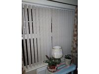 Used vertial blinds bay windows and flat windows various sizes on request