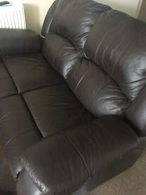 Good condition two seater leather sofa