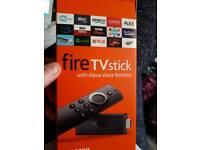 Amazon fire stick with Alexa voice remote
