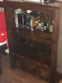 Indian wood tv unit and book case