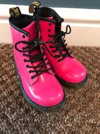 Girls Pink Dr Martens Size 9