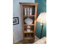 Elegant 1 Drawer Bookcase. Constructed from solid oak, veneers and pine Sideboard.
