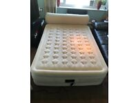 Intex Deluxe Raised inflatable Air Bed, mattress with headboard QUEEN SIZE