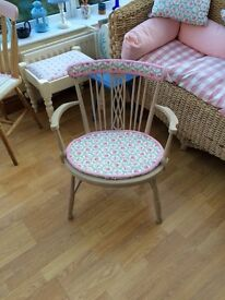 Cream/pink CATH KIDSTON little wooden chair