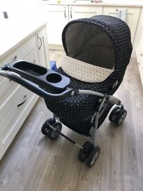 Mamas and Papas Travel System black and white spot