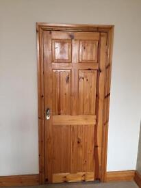 House Door Ready Varnished pine