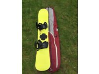 Freesurf Snow board with Rage bindings and travel bag
