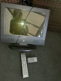 Tv with remote 16in