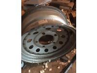 Landrover steel 3 pice rim