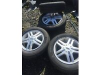 """FORD FOCUS MK1 15"""" ALLOY WHEELS WITH TYRES 195/60/15 98-04"""