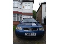 Audi A3 low mileage in excellent condition