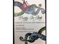 Tattoo day sessions £180.00 throughout October