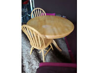 Kitchen Dinning round table and 2 chairs for sale