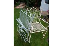 Two metal chairs £50