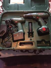 Bosch twin 12v drill set and charger