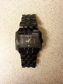 Police Matrix Mens Black Stainless Steel Watch - In Box