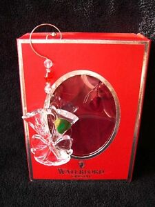 WATERFORD XMAS CHRISTMAS DECORATION CHAMPAGNE FLUTES BAUBLE XMAS BOXED