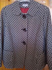 Ladies black and white wool mix jacket. ( M&S brand new)