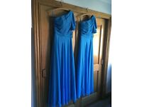 2 x New One Shoulder Blue Bridesmaid Dresses