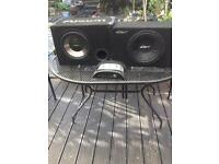 sub woofers and amplifier
