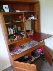 Wood wall unit detachable for quick sale as I am moving house
