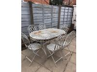 Iron garden patio outdoor table and chairs