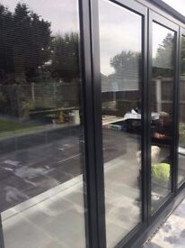 Black Aluminium Bifold Patio Doors
