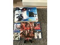 PS4 500gb boxed with games