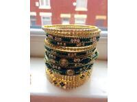 Asian custome jewellery set (necklace and bracelets / bangles / pendant )