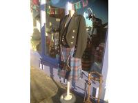 Men's Black Wool Prince Charlie Kilt Jacket & Waistcoat Jacket & Tartan Kilt
