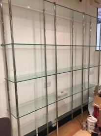 Large bespoke glass display unit