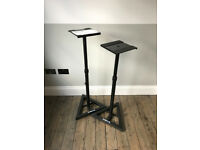 2x Quik Lok BS/300 Straight Monitor Stands with Adjustable Height Column