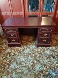 Unwanted Furniture - Mahogany Desk, Side Unit and 2 Bookcases.