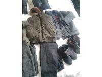 boys jackets age 6/7 .plimsoles size 13 trousers age 6/7