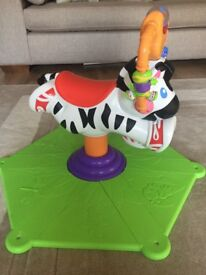 Bounce and spin zebra suitable for approx age 1-3 years