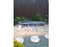 6' x 6' greenhouse frame dismantled , a couple of bolts missing