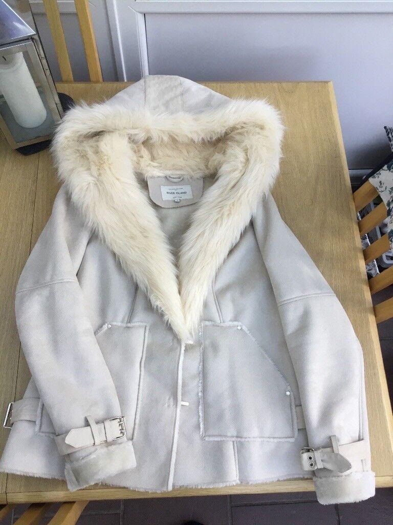 fc6aca9af57 River Island faux fur women s jacket