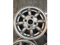 "12"" Mini Lite Alloy Wheels Rims 4 Stud Silver Gloss or for a trailer"